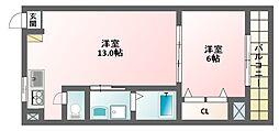 メゾン・クレアシオン[4階]の間取り
