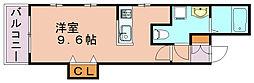 ルミウス中洲[1階]の間取り