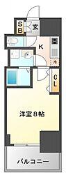 レジディア江坂II[8階]の間取り