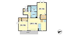 仮)D−room西今宿4丁目アパート[1階]の間取り