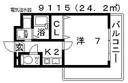 七神国府ビル[501号室号室]の間取り