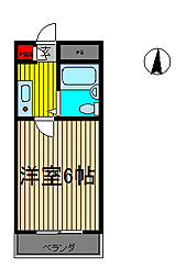 前川ヒルズ[302号室]の間取り