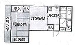 レインフォレスト[3階]の間取り