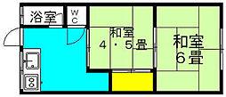 桜谷荘[2階]の間取り