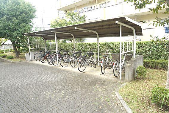 自転車置場です...