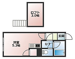 N13[104号室]の間取り