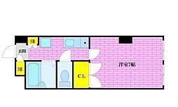 アパートメントプレアデス[1階]の間取り