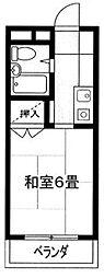 埼玉県川越市脇田本町の賃貸マンションの間取り