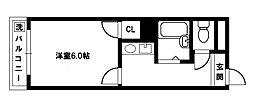 アドバンス豊新[2階]の間取り