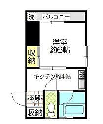東京都杉並区南荻窪3丁目の賃貸アパートの間取り