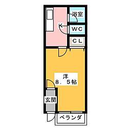 見晴ビレッジ[2階]の間取り