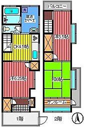 [一戸建] 埼玉県さいたま市浦和区仲町1丁目 の賃貸【/】の間取り