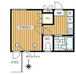 東京都練馬区中村北2丁目の賃貸アパートの間取り