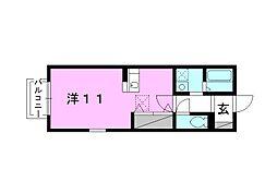 La casa 持田[105 号室号室]の間取り