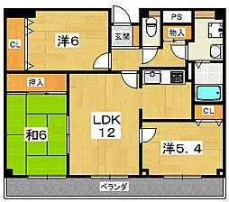 メゾン・ド・フォーレ[2階]の間取り