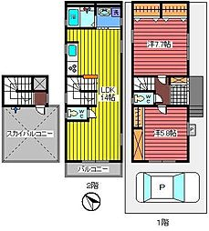 [一戸建] 埼玉県さいたま市浦和区東岸町 の賃貸【/】の間取り
