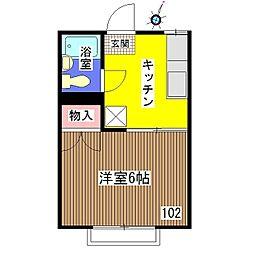 CASAさくら[102号室]の間取り