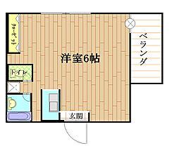 兵庫県神戸市灘区王子町1丁目の賃貸マンションの間取り