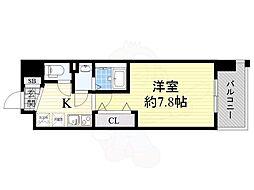 JR東海道・山陽本線 JR総持寺駅 徒歩5分の賃貸マンション 5階1Kの間取り