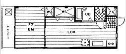キャッスル並木[3階]の間取り