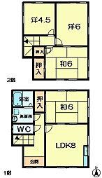 [一戸建] 奈良県奈良市六条西2丁目 の賃貸【奈良県 / 奈良市】の外観