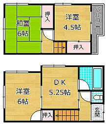 [一戸建] 大阪府交野市向井田1丁目 の賃貸【/】の間取り