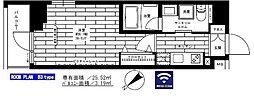 西武新宿線 鷺ノ宮駅 徒歩8分の賃貸マンション 9階1Kの間取り