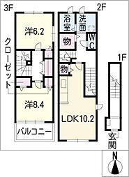 ミニヨン・レジデンス[2階]の間取り