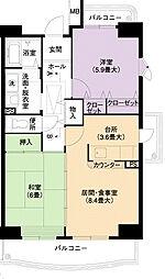 URアーバンラフレ小幡7号棟[5階]の間取り