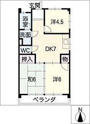 マンションモリシタ[2階]の間取り