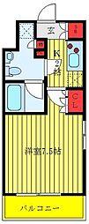 セジョリ板橋坂下 9階1Kの間取り