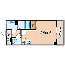 静岡県静岡市葵区駒形通5丁目の賃貸マンションの間取り