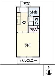 セゾン上小田井[1階]の間取り