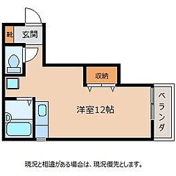 長野県飯田市馬場町3丁目の賃貸マンションの間取り