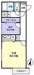 グランニールwest勝田台[3階]の間取り