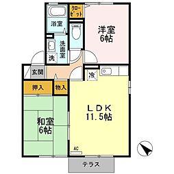 アコルデ B棟[1階]の間取り