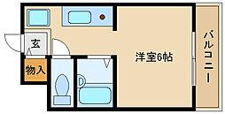 シャトル西神戸[403号室]の間取り