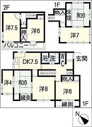 [一戸建] 愛知県豊明市新栄町3丁目 の賃貸【/】の間取り