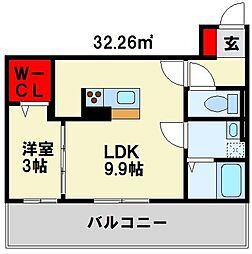 ヴィアンジュ黒崎[1階]の間取り