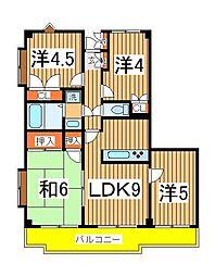 プラザ天王台[1階]の間取り