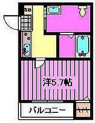 埼玉県さいたま市浦和区領家1丁目の賃貸アパートの間取り