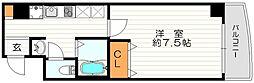 ラフォンテ阿波座[7階]の間取り