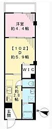ルポリテ bt[102kk号室]の間取り