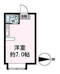 フラットU-5[2階]の間取り