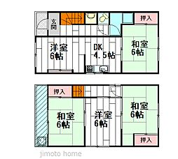 [一戸建] 大阪府豊中市小曽根4丁目 の賃貸【/】の間取り