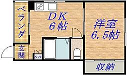 エクセーラ森小路[3階]の間取り