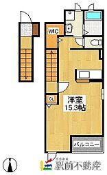 フィオーレツカサIIIA[2階]の間取り