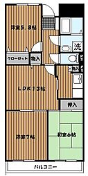 メゾンドベル青葉台II[3階]の間取り