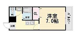 大阪府高石市取石4丁目の賃貸アパートの間取り