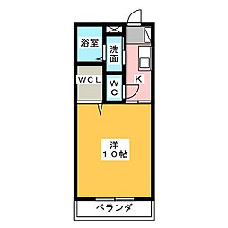 静岡県焼津市石津の賃貸アパートの間取り